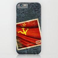 Sticker of Soviet Union (1922-1991) flag iPhone 6 Slim Case