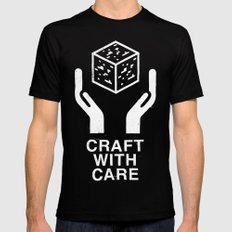 Craft With Care (Black) Black SMALL Mens Fitted Tee