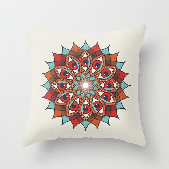 Bali Eyes 1 Throw Pillow