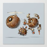 Creative Orb Robot Canvas Print