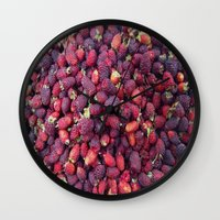 Berries In Paloquemao - … Wall Clock