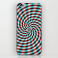 Turquoise And Red Spiral… iPhone & iPod Skin