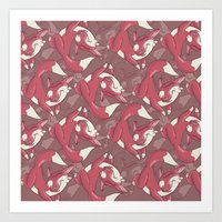 The quick brown fox jumps over… Art Print
