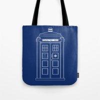 TARDIS Blueprint - Doctor Who Tote Bag