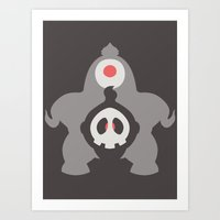 Pocket Monster 355 and 356 Art Print