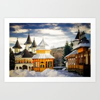 Winter At Slatioara Mona… Art Print