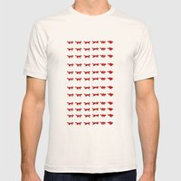 Pixel Foxes Mens Fitted Tee Natural SMALL