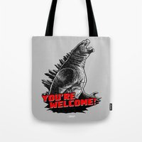 Gojira '14: You're Welcome! Tote Bag
