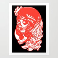 Skull Girl II Art Print