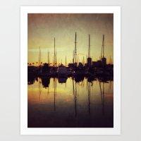 Marina Bay Lines Art Print