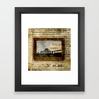 Ephemera 2 Framed Art Print