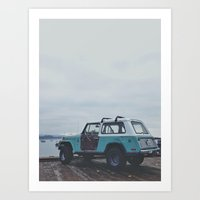 Mild colored truck Art Print