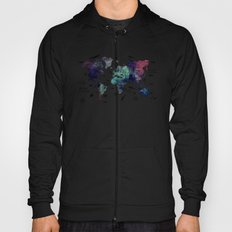 Oceans Life World Map  Hoody