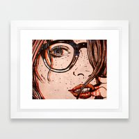 LE REGARD Framed Art Print