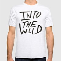 Into the Wild x BW Mens Fitted Tee Ash Grey SMALL