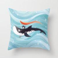 Grandpa Orca Throw Pillow