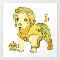 Kurt Russell Terrier - Jack Burton Art Print