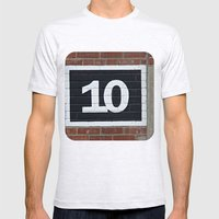 10 Mens Fitted Tee Ash Grey SMALL
