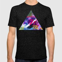 Wave purple Mens Fitted Tee Tri-Black SMALL