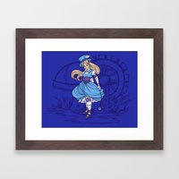 Steampunk Alice Framed Art Print