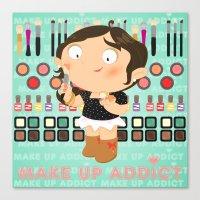Make up addict Canvas Print