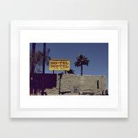 No-Tel Motel Framed Art Print