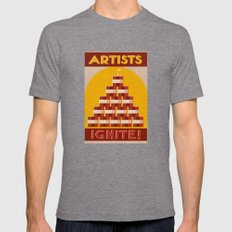 Artists Ignite! Mens Fitted Tee Tri-Grey SMALL