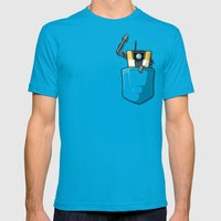 P0ck37 Mens Fitted Tee Teal SMALL