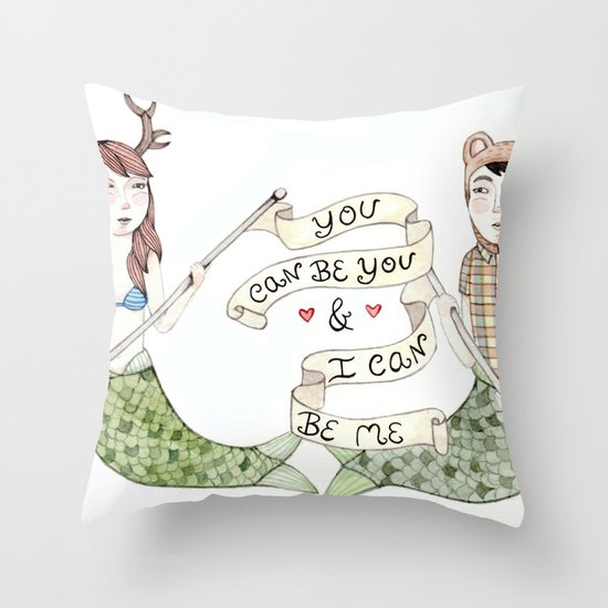 You Can Be You Throw Pillow