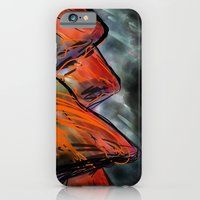 iPhone Cases featuring Burn Mountain by Cobalt