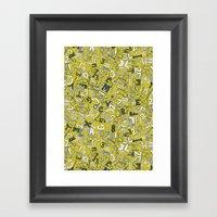 A1B2C3 chartreuse Framed Art Print