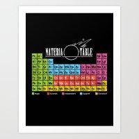 Materia Table Art Print