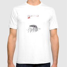 Oak - AP SMALL White Mens Fitted Tee