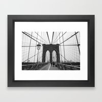 Brooklyn Bridge 3 Framed Art Print