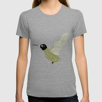 Abstract Hummingbird Womens Fitted Tee Tri-Grey SMALL