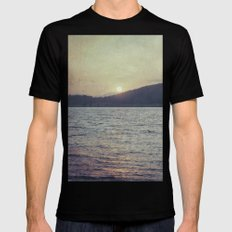 Blue Sunset SMALL Black Mens Fitted Tee