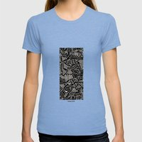 - Modern - Womens Fitted Tee Tri-Blue SMALL