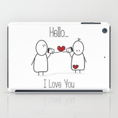 Hello I Love You iPad Case