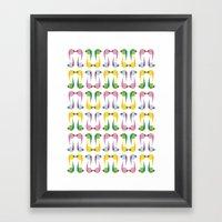 Comma Framed Art Print