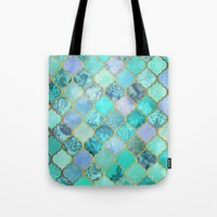 Cool Jade & Icy Mint Dec… Tote Bag