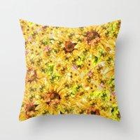 Sun Flower Mosaic Throw Pillow