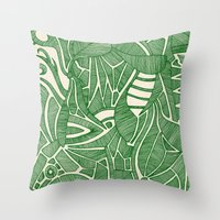 - green hope - Throw Pillow