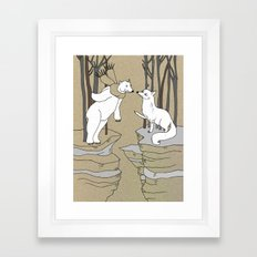 Arctic fox and Polar bear, Romeo and Juliet Framed Art Print