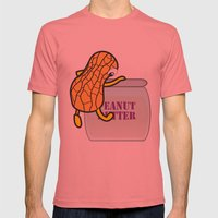 Back Home Mens Fitted Tee Pomegranate SMALL