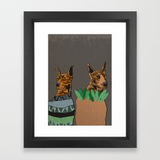 Stylish dogs Framed Art Print