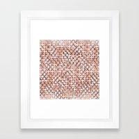 Hexagonal peach color background Framed Art Print