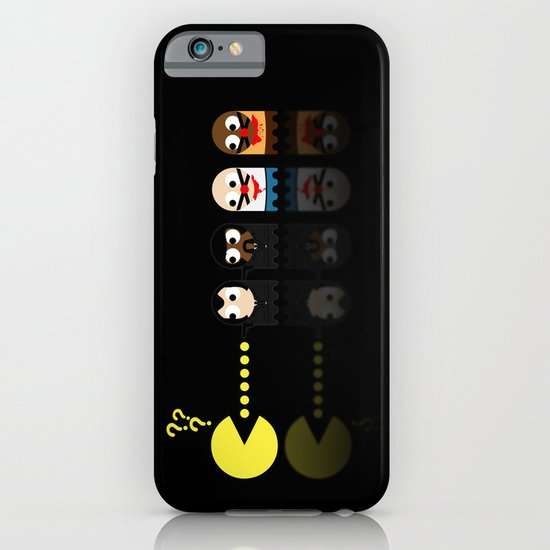 Pacman with Pulp Fiction Ghosts iPhone & iPod Case