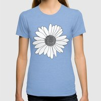 Daisy Boarder Mint Womens Fitted Tee Tri-Blue SMALL