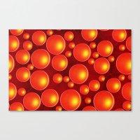 Orange Bubbles Canvas Print