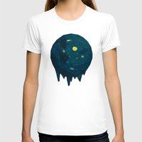 Geometric Space Womens Fitted Tee White SMALL
